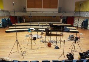 MCO Studio 1, opname setup piano-zang